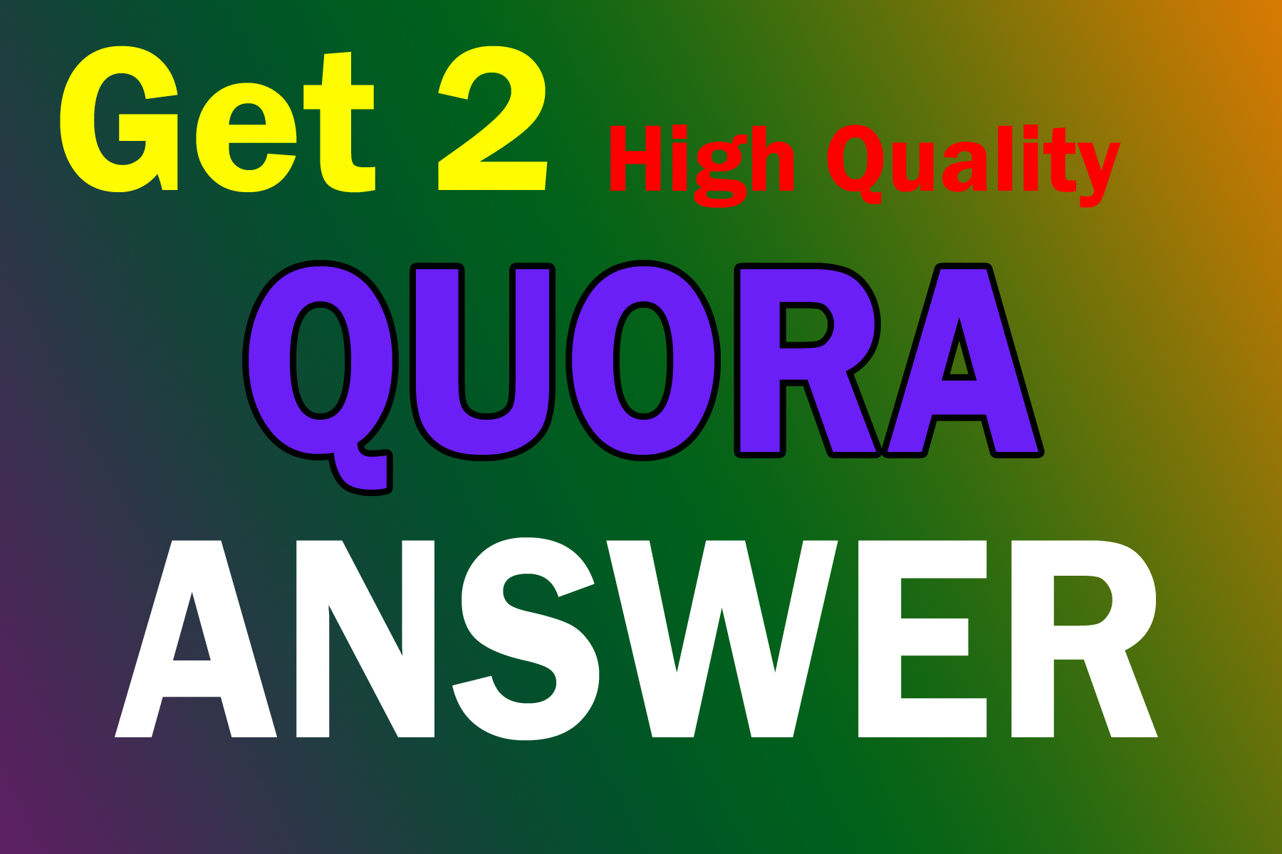 Get High Quality 2 Quora Answer Backlink for Your Website