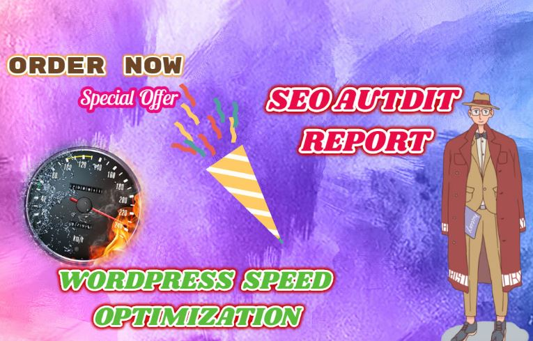 Do Wordpress Speed Optimization By Gtmetrix and provide current SEO Audit Report