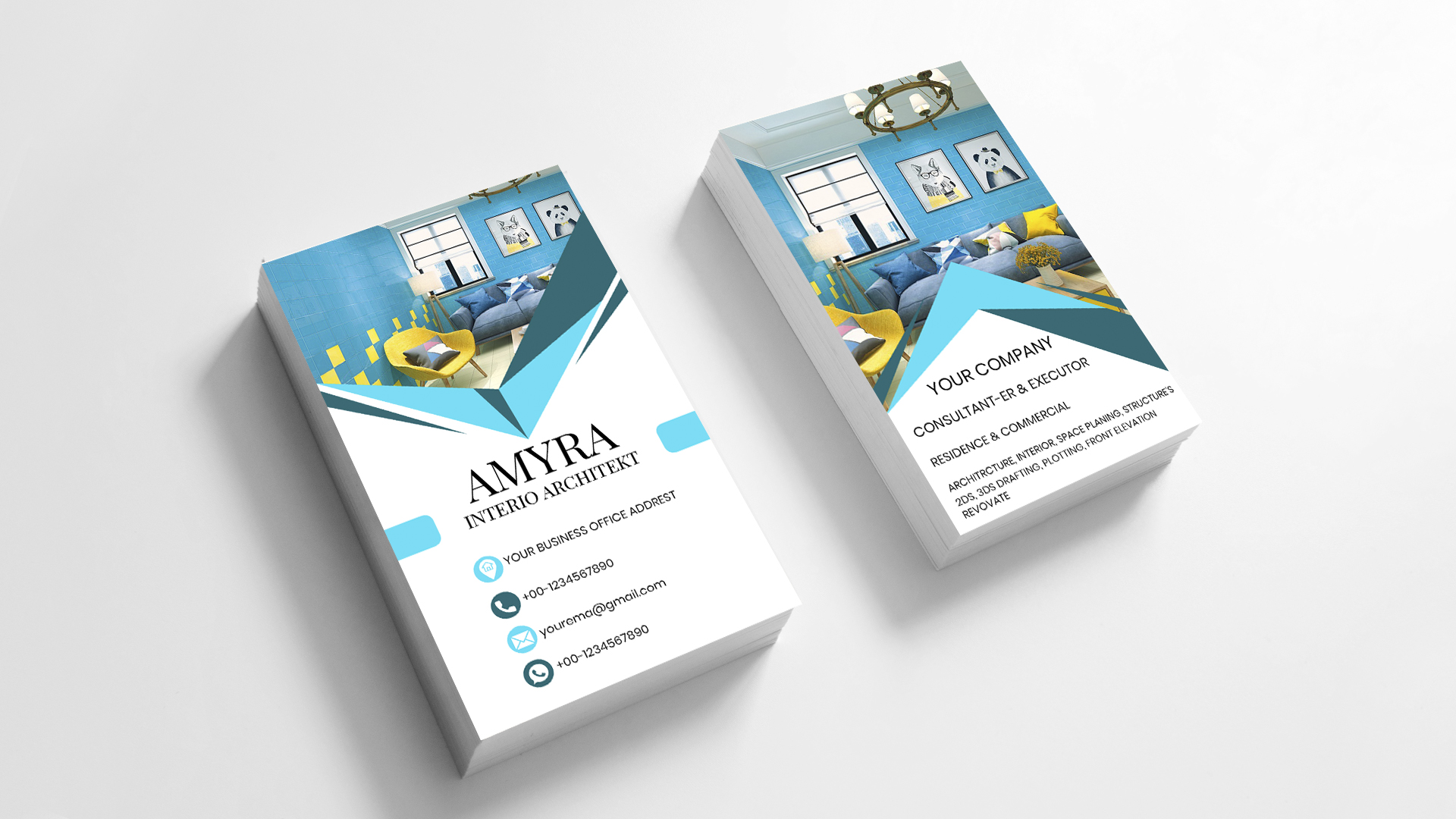 i will create your business card with your company name