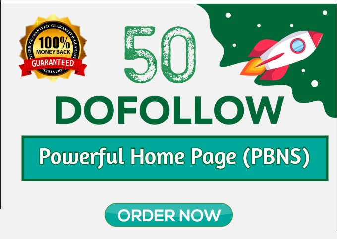 Build 50 Powerful PBN Homepage BACKLINKS