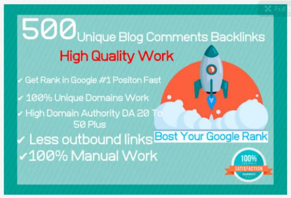 I will do 500 unique domains blog comments backlinks