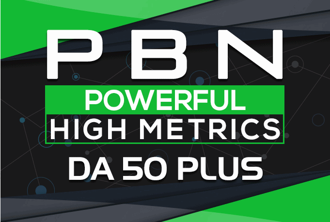High DA PA permanent PBN backlinks