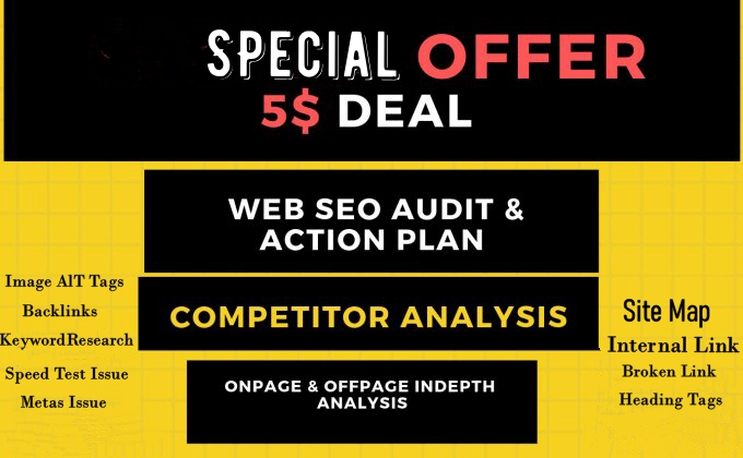 I will provide expert SEO audit report,  Keyword Research, competitor website audit, analysis