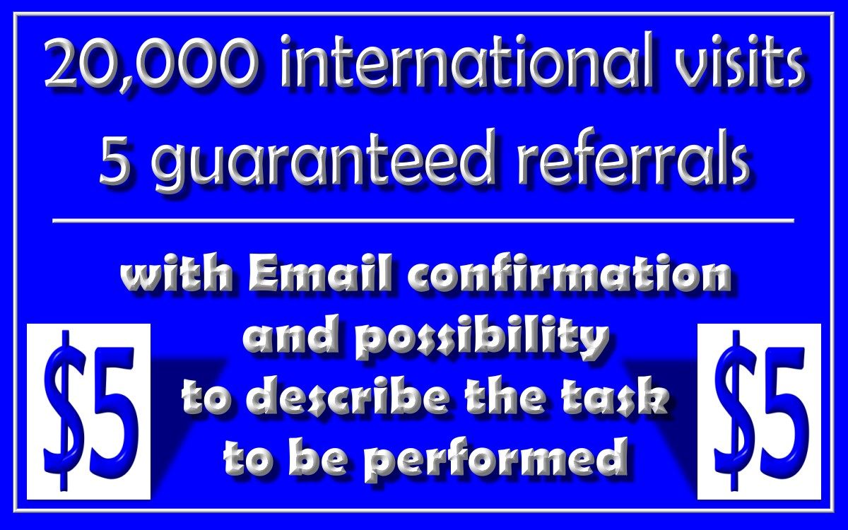 Boost your website on 20k visitors and 5 referrals