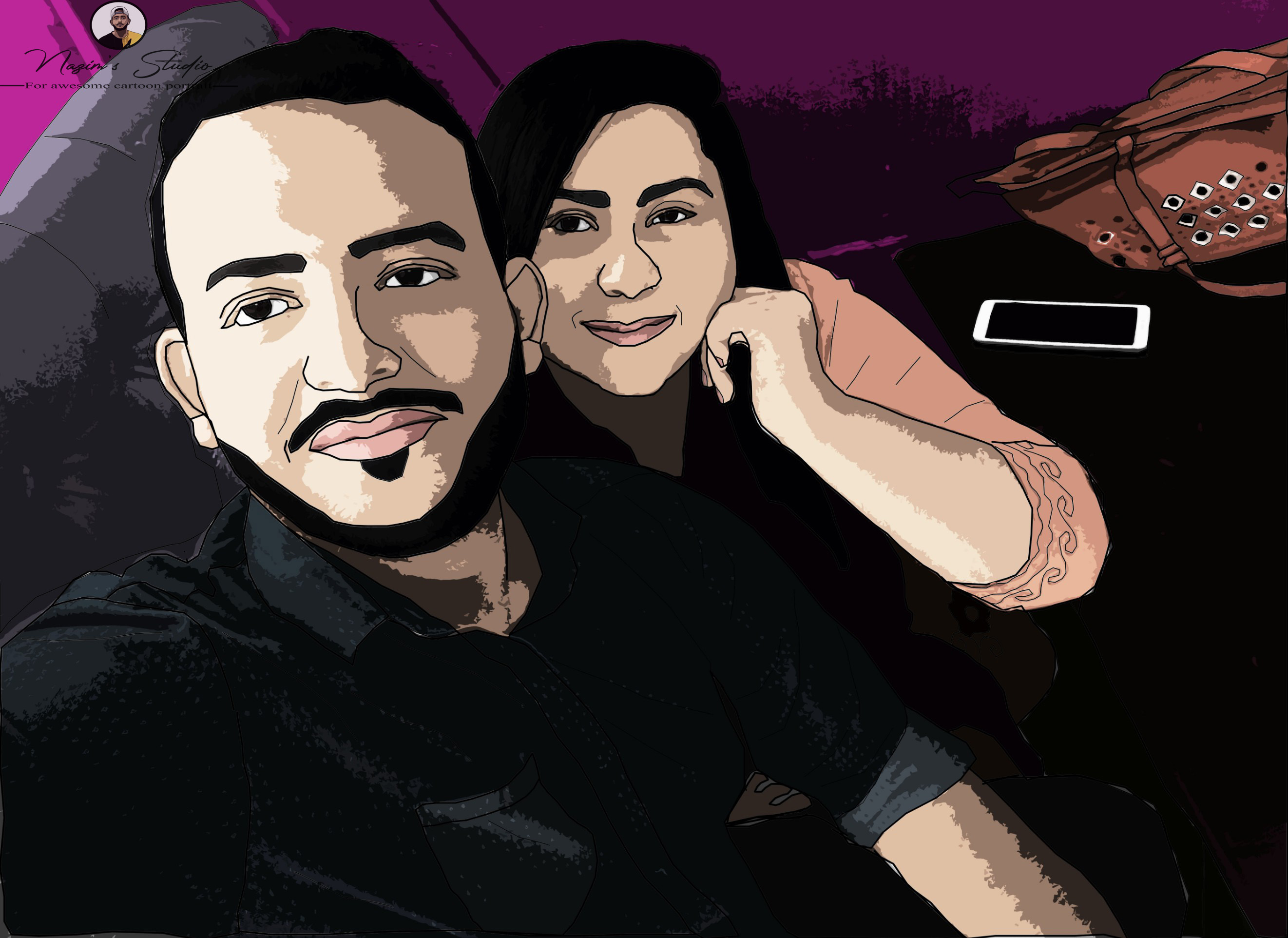 I will create your image into an awesome cartoon portrait