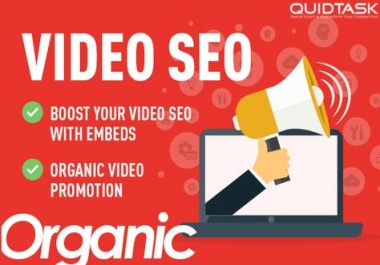 Organic MASSIVE YouTube Video SEO and Promotion with Embeds, Backlinks, Social Signals and Shoutouts