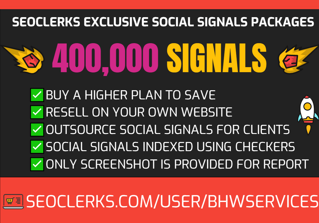 Get 400,000 Social Signals for SEO and Traffic Boost - High Authority Pages and Established Audience