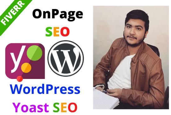 I will do complete yoast wordpress onpage SEO optimization