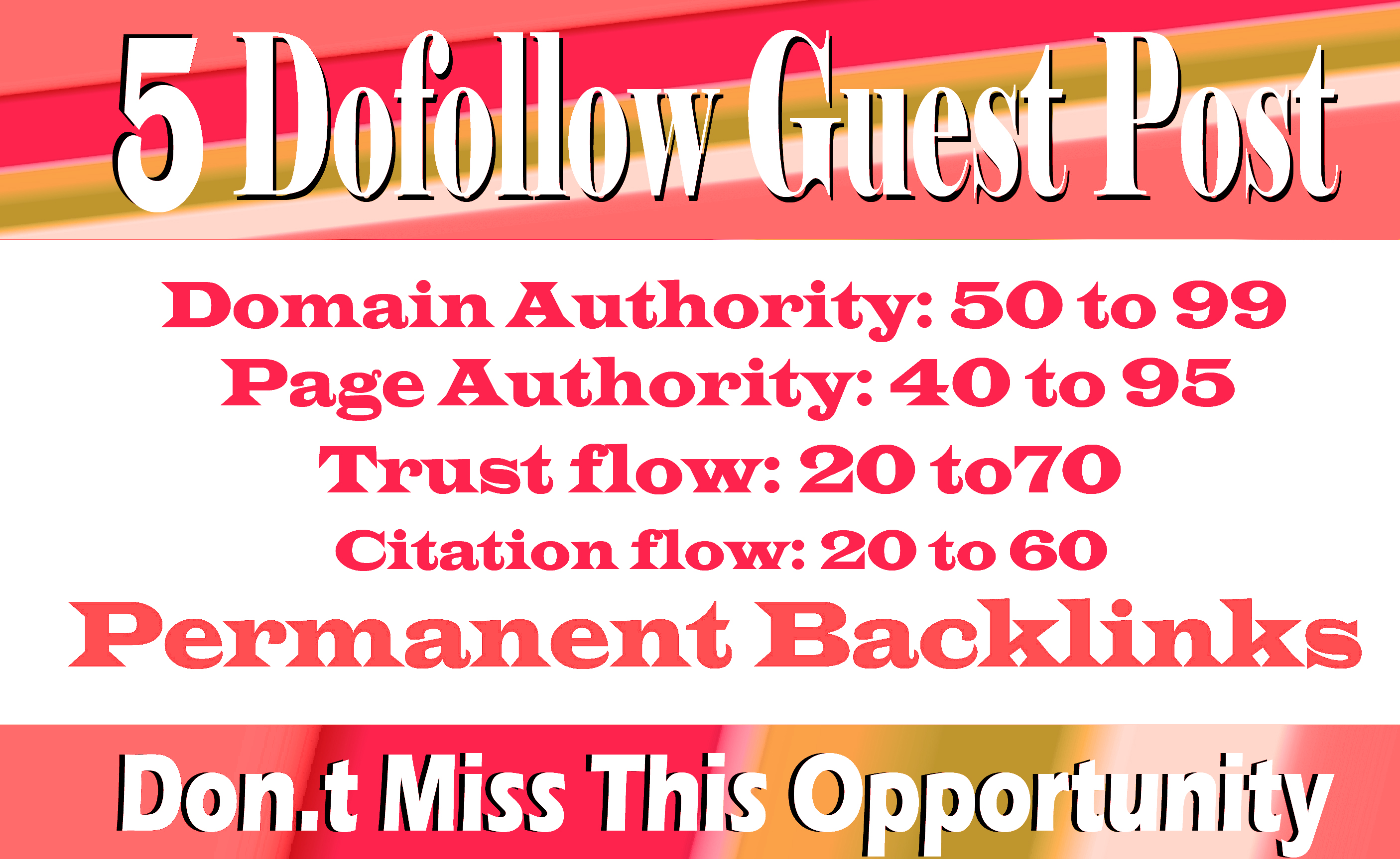 Publish High- Quality 5 Guest Contents on Top 5 Sites with Backlinks