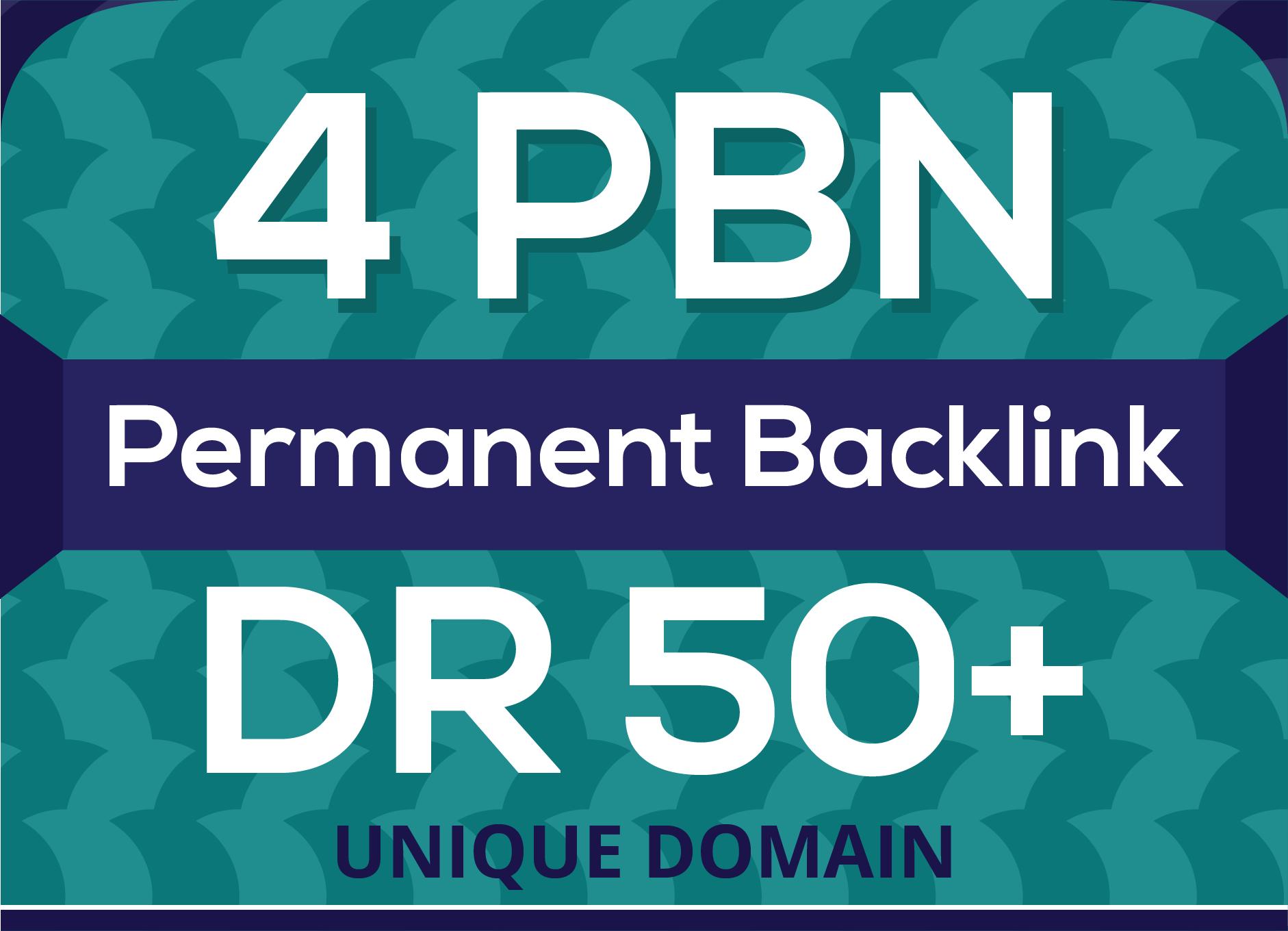 Creat 4 high quality DR 50+PBN backlinks