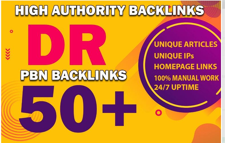 6 DR 50+ pbn homepage dofollow backlinks