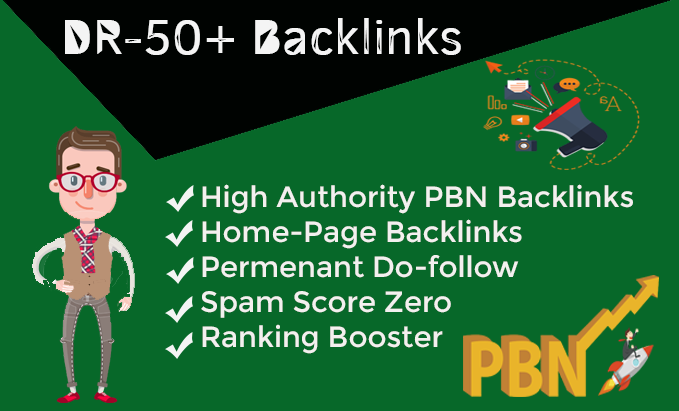 Provide 200 DR 50+ pbn homepage dofollow backlinks