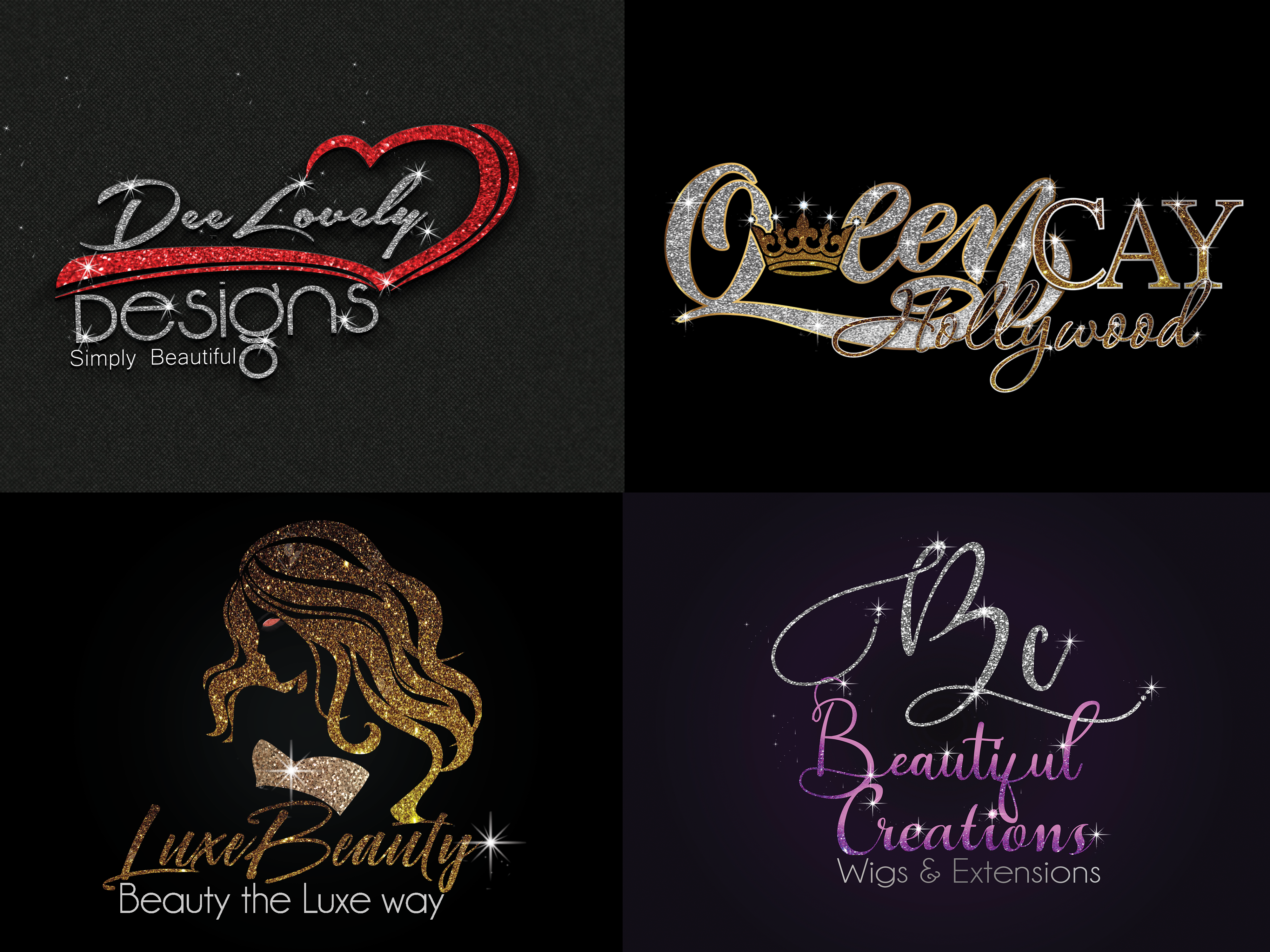I will Design Glitter sparkle logo for your Business