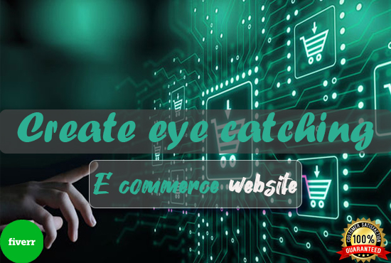 I will create eye catching e commerce website