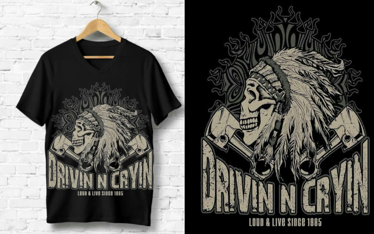 I will custom t shirt design for you