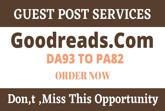 write and publish guest post on DA93 Goodreads. com