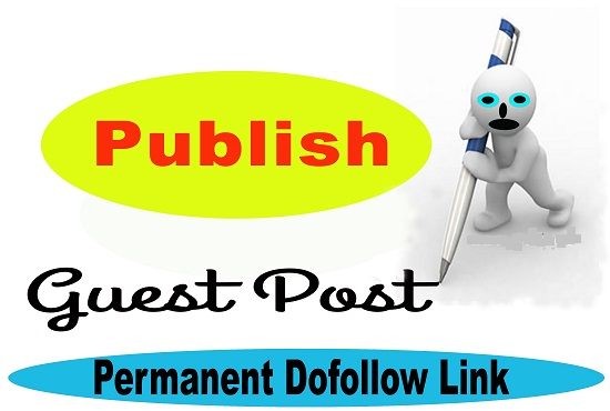 write and publish guest posts on 5 authority websites