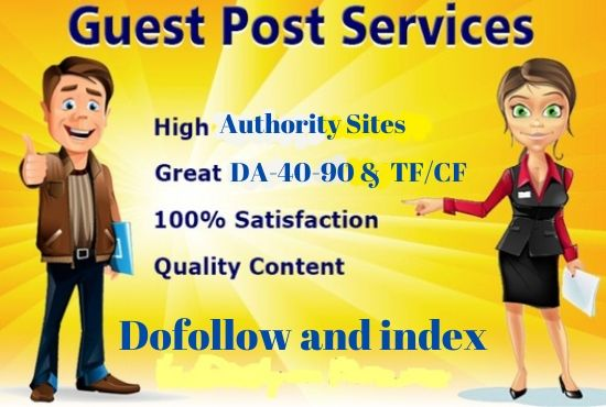 publish 10 guest post on high da43 to da93 sites for top SEO ranking