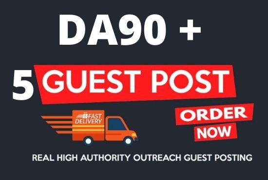 DA90+ Publish 5 Guest Post On high Authority Websites