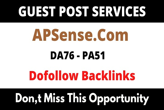 Write And Publish Guest Blog On DA76 Apsense. com