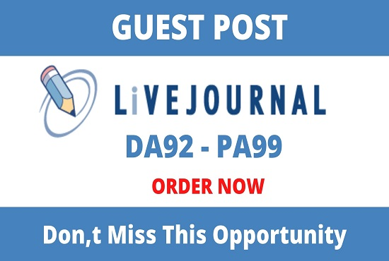 write and publish guest posts on Livejournal- Livejournal. com
