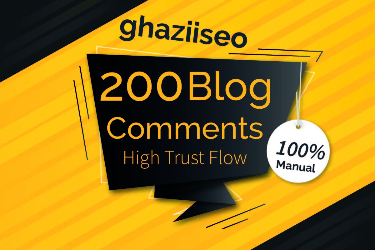 200 DoFollow Blog Comment Backlink High DA PA Manual Work- google ranking