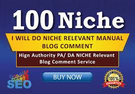 100 Niche Relevant Blog Comment Backlink DA PA CF TF Moz Autority