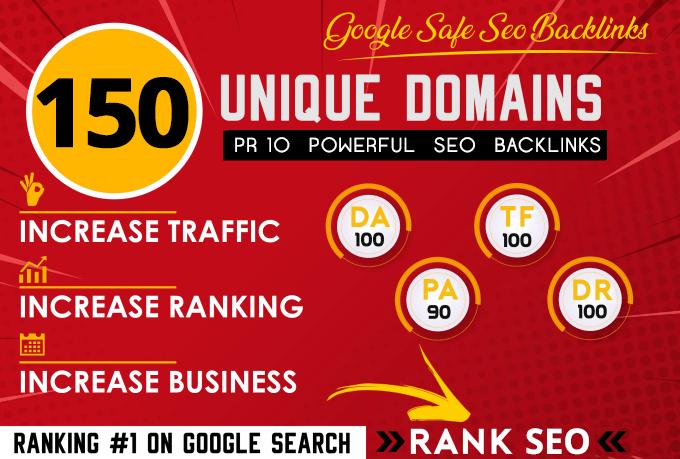 150 Blog Comment Dofollow Backlinks High DA PA google Rank Website Traffic Obl Low