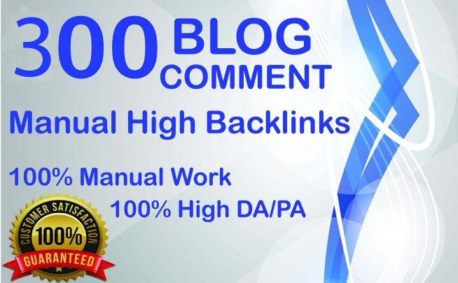 300 Dofollow Blog Comments Backlinks High DA PA Website Ranking On Google