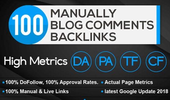 100 DoFollow Fantastic Blog Comment Backlinks on High DA PA TF CF