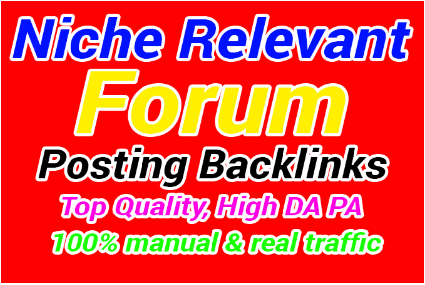 150 Niche Relevant Backlinks Low Obl Autority With High DA PA