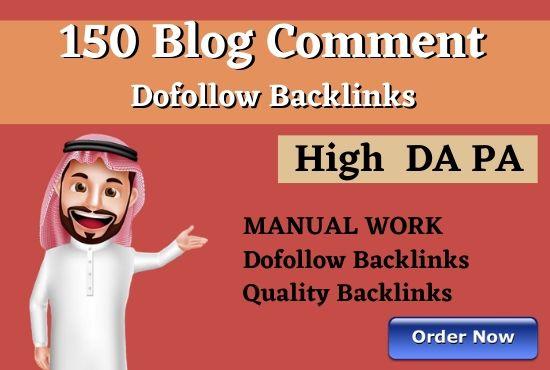 150 DoFollow Blog Comments Backlink DA PA TF CF Moz Autority