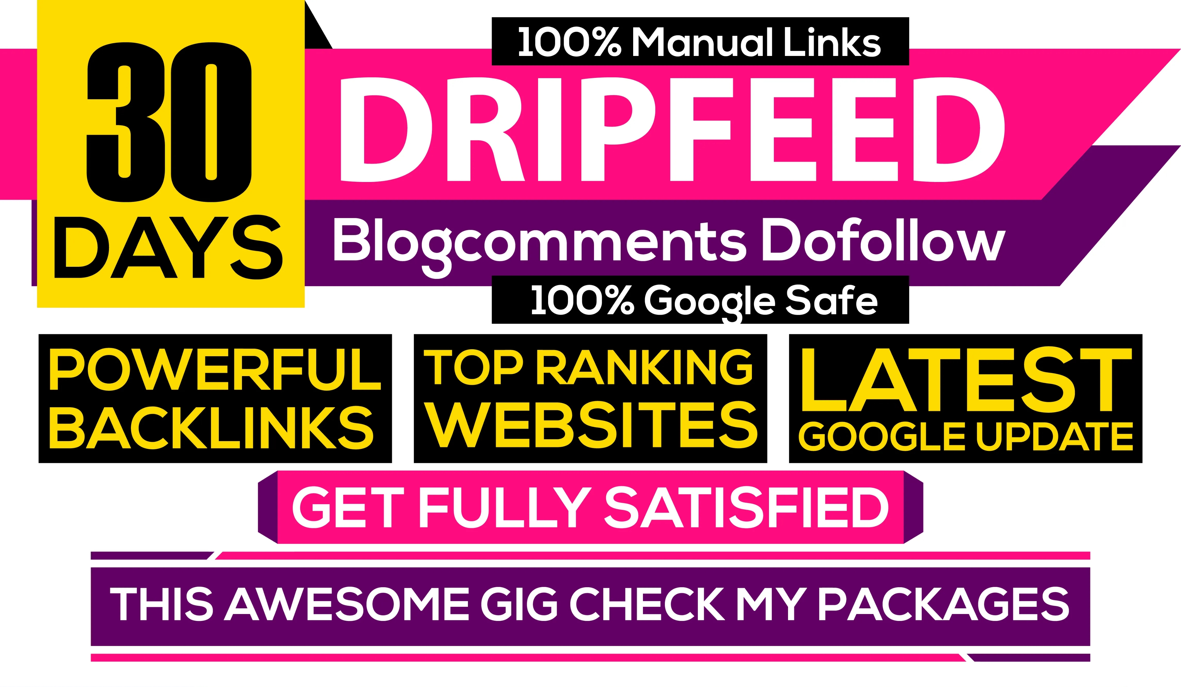Monthly Drip Feed Seo Daily 50 blog comments do follow high da20 pa20 unique domain