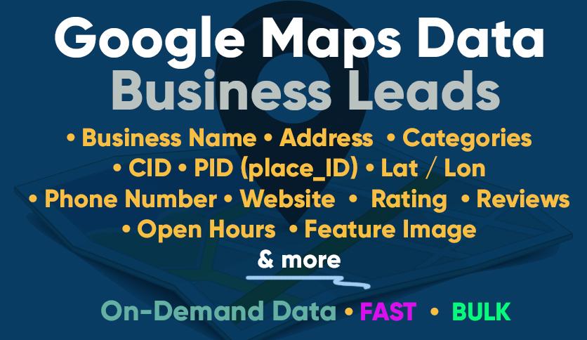 Google Maps GMB Data Scraping - On-Demand - Bulk & Fast