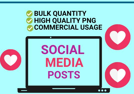 I will design amazing bulk social media posts,  ads,  stories design