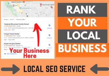 I Will Rank your Local Business Higher - ADVANCED Local SEO Service