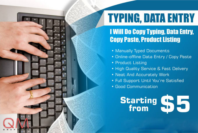 I will do wordpad typingfor you 6 to 7 pages daily