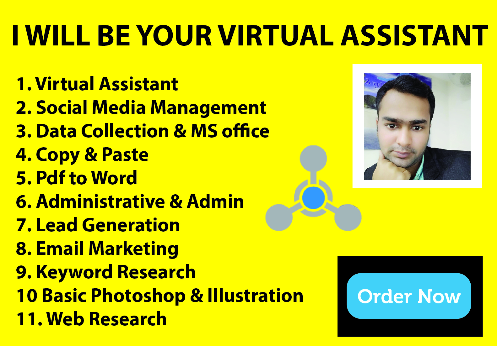I will be your professional virtual assistant or personal assistant.