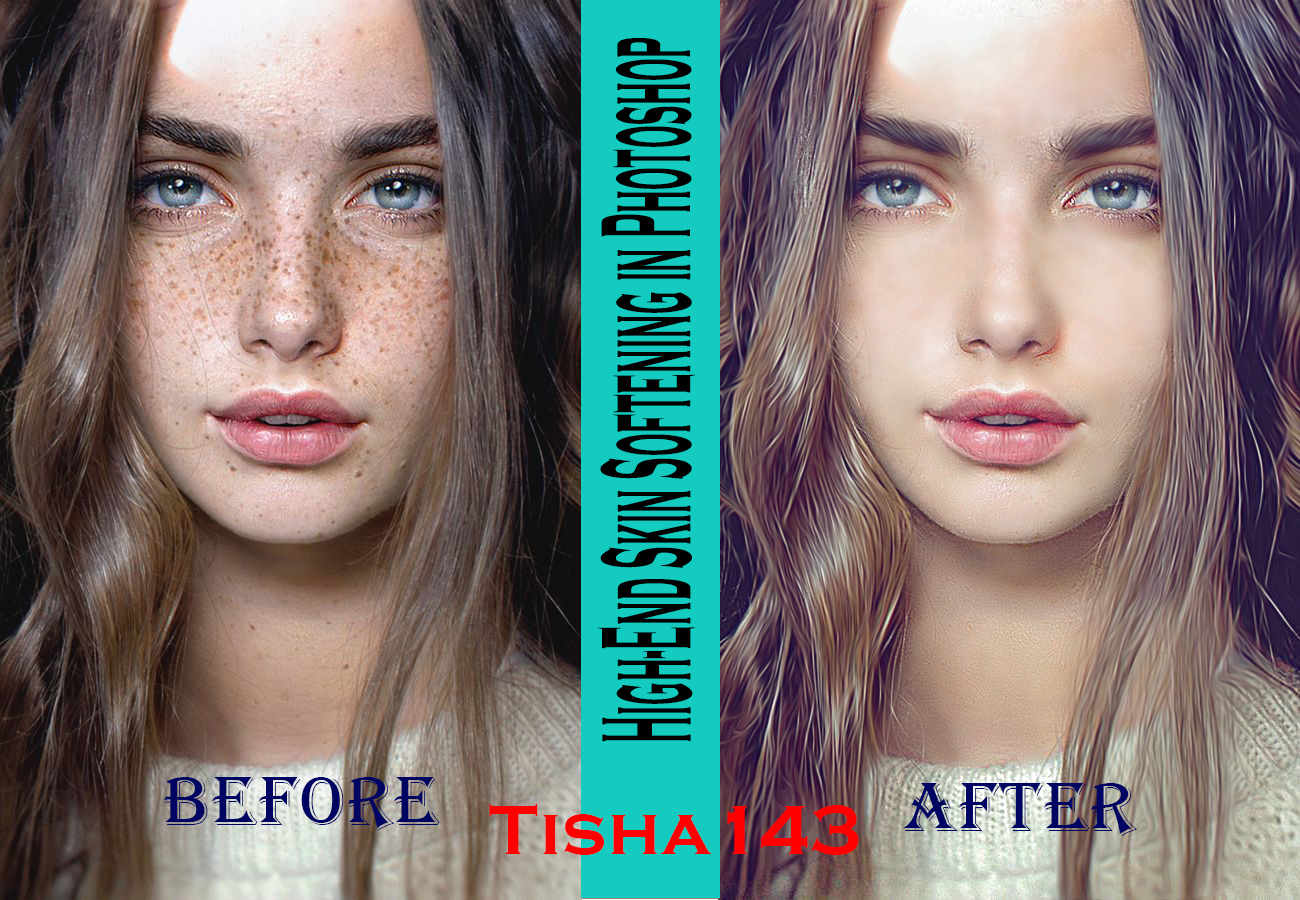 Professional High-End Skin Re-touch in Photoshop - Remove Blemishes,  Wrinkles,  Acne fast delivery