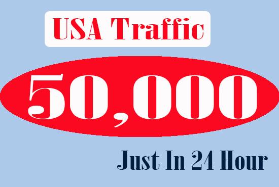 50k USA Website traffic In 24 hour