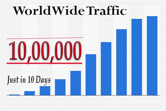 1000k or 1M WorldWide Website Traffic in 10 Days