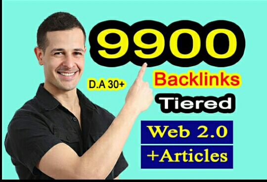 Build 9900 ultra seo contexual backlinks tiered