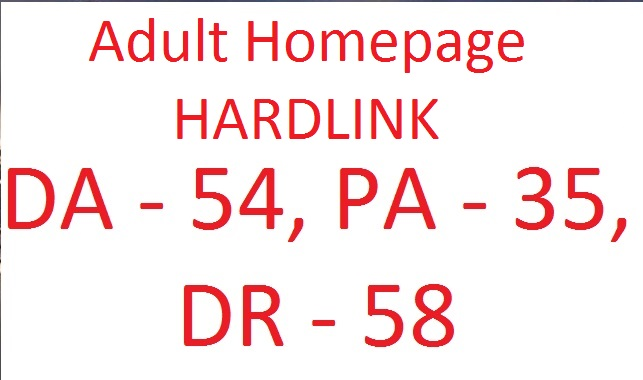 Lifetime Adult Homepage Hardlink on DA 54,  PA 35,  DR 59