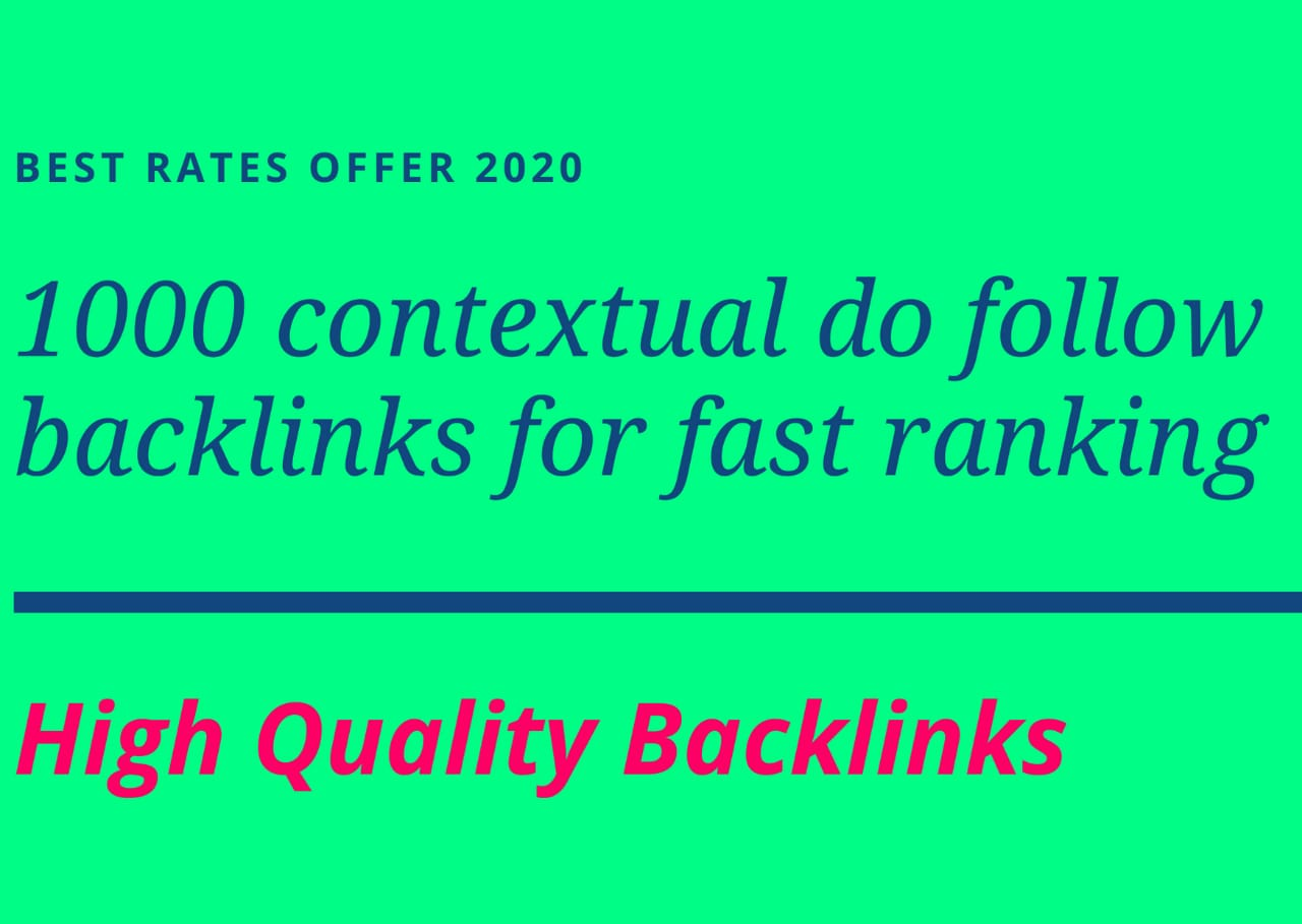 I will provide SEO contextual do follow back links in premium quality in a prescribed time period