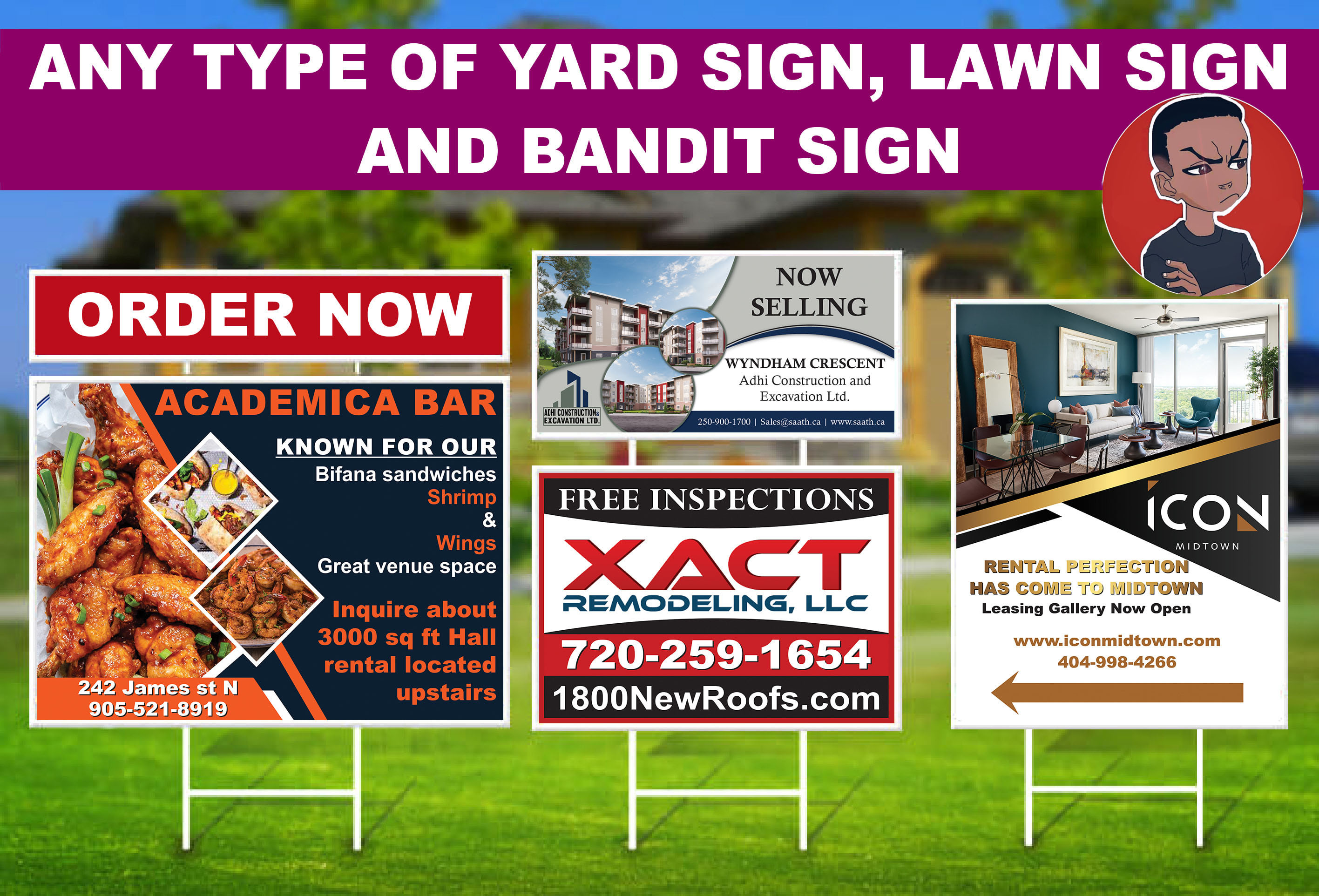 I will Professional design yard sign,  billboard,  outdoor banner and signage