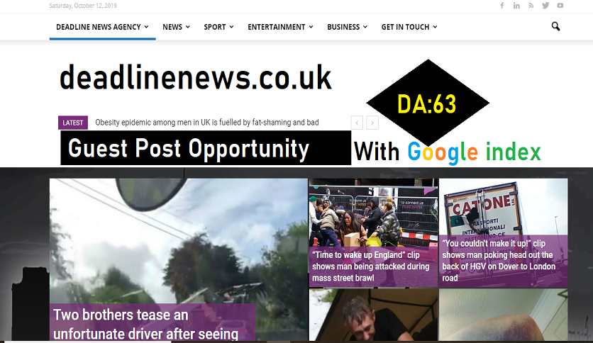 Publish Premium Guest Post On Google News Approved Site Deadlinenews. co. uk DA63