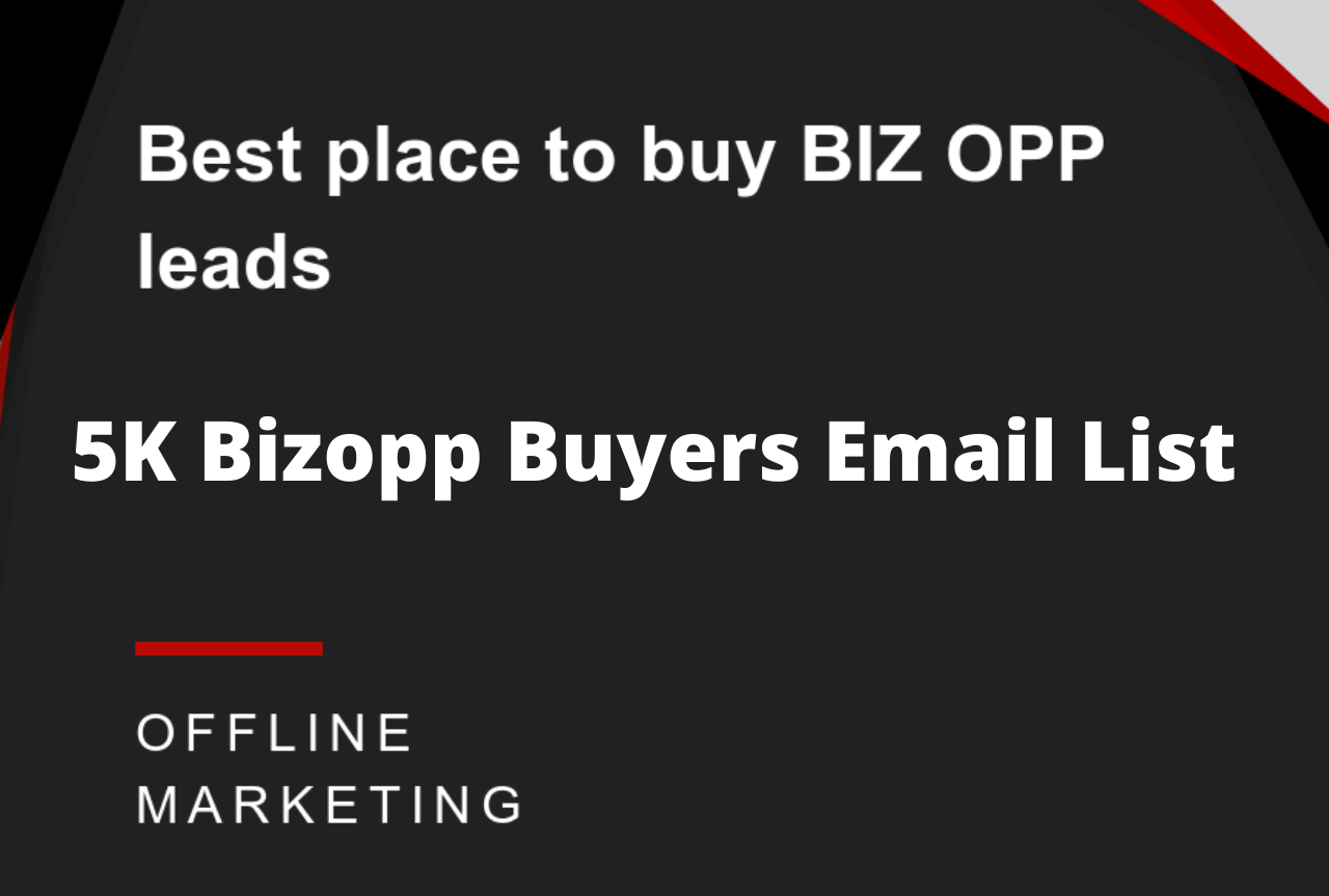 I will give you my 5K Bizopp Buyers Email List