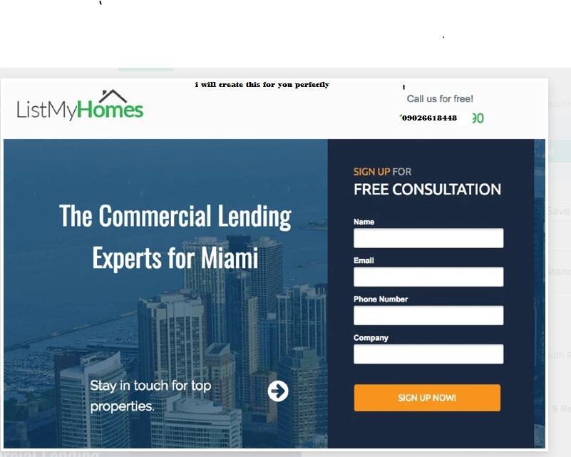 I will create modern landing page design