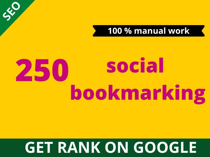 I will help you dominate search engines by 250 social bookmaking backlinks