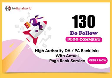I Will Do 130 Blog Comment SEO backlinks